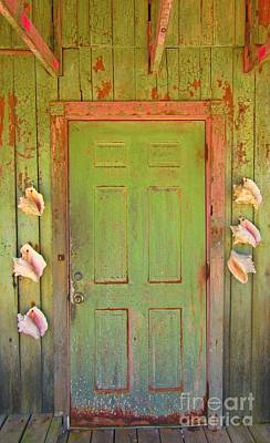 Beautiful Old Door With Seashells Print by John Malone