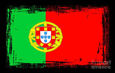 Portuguese Mixed Media - Beautiful Portugal Flag by Pamela Johnson