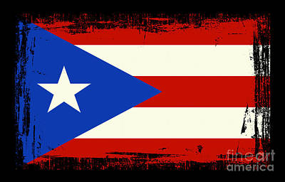 Beautiful Puerto Rico Flag Print by Pamela Johnson