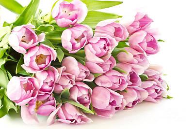 Beautiful Purple Tulips Print by Boon Mee
