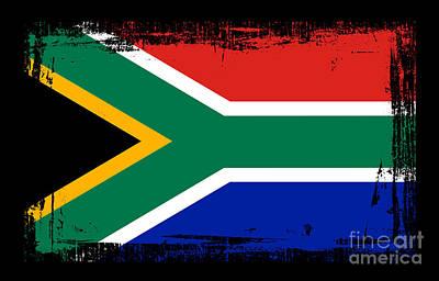 Beautiful South Africa Flag Print by Pamela Johnson