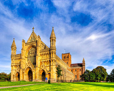 Cathedral Photograph - Beautiful St Albans Abbey Beneath A Dramatic Sky by Mark E Tisdale