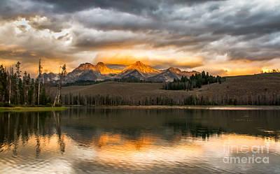 Stupendous Photograph - Beautiful Sunrise On Little Redfish Lake by Robert Bales