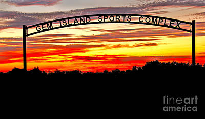 Beautiful Sunset And Emmett Sport Comples Print by Robert Bales