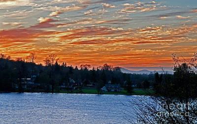 Beautiful Sunset At Lake Clear Lake Washington Print by Valerie Garner