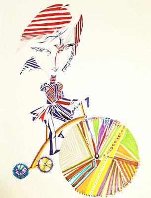 Tricycle Drawing - Beautiful Thoughts by Ilana Tavshunsky