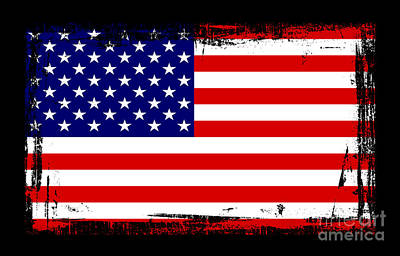 Beautiful United States Flag Print by Pamela Johnson