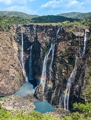 Beautiful Waterfalls In India Print by Nila Newsom