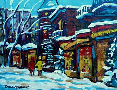 Montreal Painting - Beautiful Winter Evening by Carole Spandau