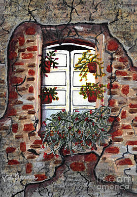 Beauty After Destruction Window Art Prints Print by Valerie Garner