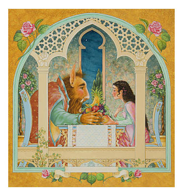 Beauty And The Beast Print by Lynn Bywaters