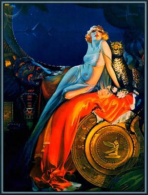 Beauty And The Beast Pin Up Print by Rolf Armstrong