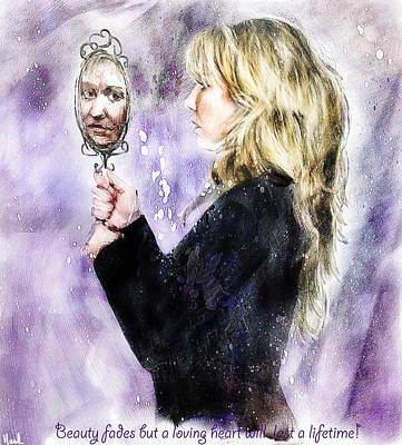 Beauty Fades Print by Hazel Billingsley