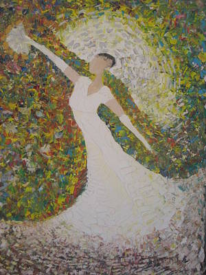 Bride Painting - Beauty For Ashes by Rachael Pragnell