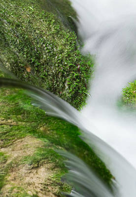 Peace Photograph - Beauty In Nature - Small Waterfall by Modern Art Prints