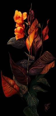 Beauty In The Dark Print by Yolanda Raker