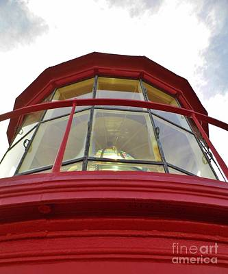 Historical Photograph - Beauty In The Lighthouse Lens by D Hackett