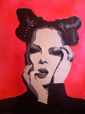 Manson Painting - The Beauty Of Garbage by Jezebel X