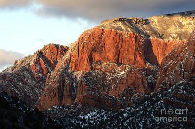 Beauty Of Kolob Canyon  Print by Bob Christopher