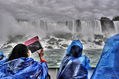Beauty Of Nature Niagara Falls Print by Michael Frank Jr