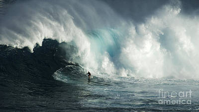 Beauty Of Surfing Jaws Maui 7 Print by Bob Christopher