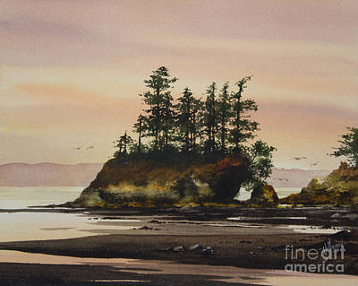 Beauty Of The Shore Print by James Williamson
