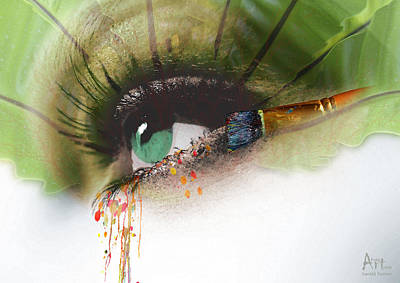 Harald Digital Art - Beauty Weeps Colorful by Harald Fischer