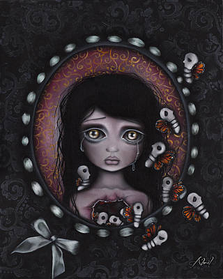 Sadness Painting - Beauty Within Me by  Abril Andrade Griffith