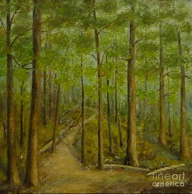 Hot Wax Painting - Beaver Pond Trail by Al Hunter