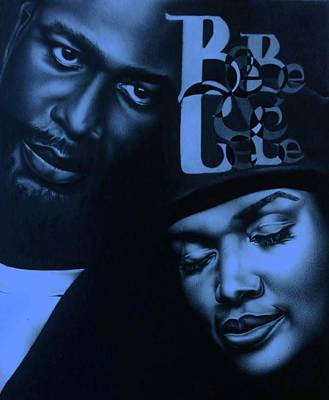 Drawing - Bebe And Cece Winans Relationships by Carl Baker