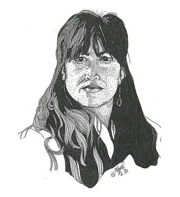 Pen Drawing - Becky by Clayton Cannaday