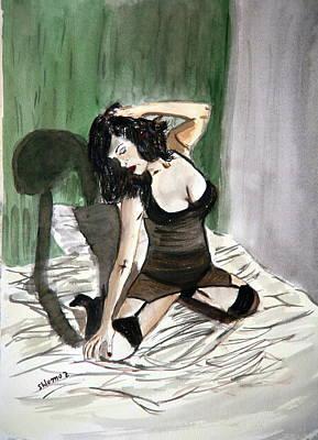 Bed Passion. Print by Shlomo Zangilevitch