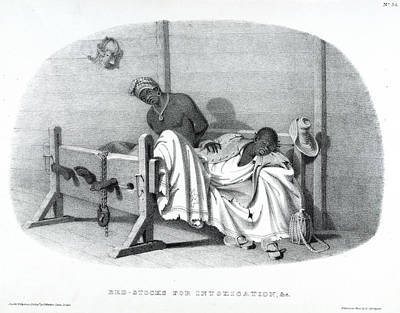 Bed-stocks Print by British Library