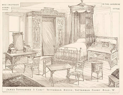 Desk Painting - Bedchamber Furniture In The Japanese by