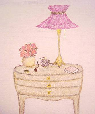Bedside Table Print by Christine Corretti