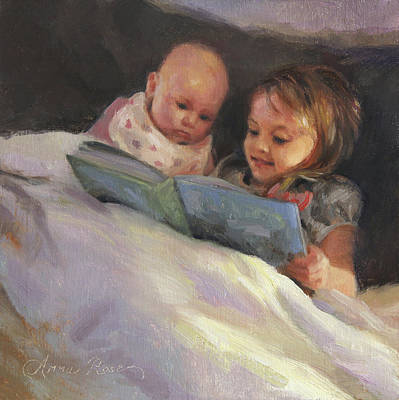 Bedtime Bible Stories Print by Anna Rose Bain