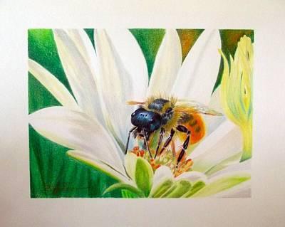 Bee At Work Original by Barbara Walker