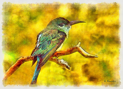 Birds Painting - Bee Eater by George Rossidis