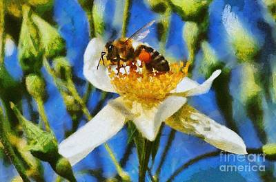 Bees Painting - Bee by George Atsametakis
