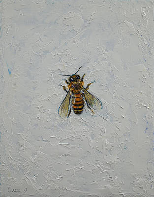 Insects Painting - Bee by Michael Creese