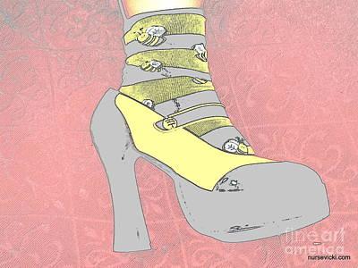 Bee Shoed Print by Victoria Beasley