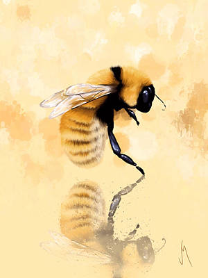 Bee Painting - Bee by Veronica Minozzi