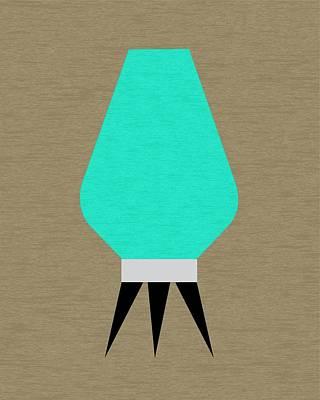 Beehive Lamp Aqua Print by Donna Mibus