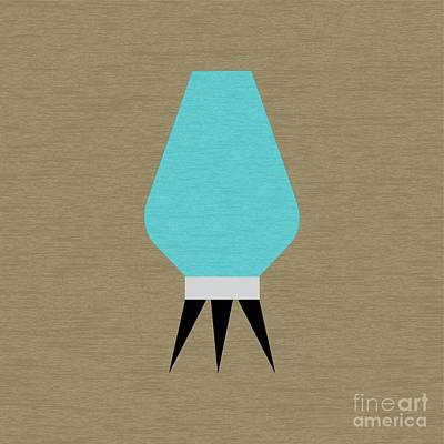 Beehive Turquoise Lamp Print by Donna Mibus