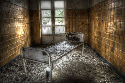 Empty Chairs Digital Art - Beelitz Bed by Nathan Wright