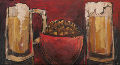 Bar Painting - Beer And Beernuts by Tim Nyberg