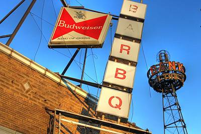 Budweiser Beer Photograph - Beer Banks And Bbq by Jane Linders