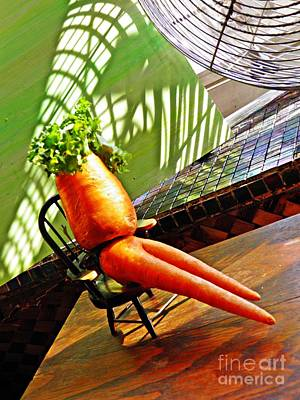 Carrot Photograph - Beer Belly Carrot On A Hot Day by Sarah Loft
