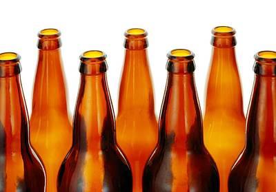 Beer Bottles Print by Jim Hughes