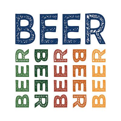 Beer Cute Colorful Print by Flo Karp